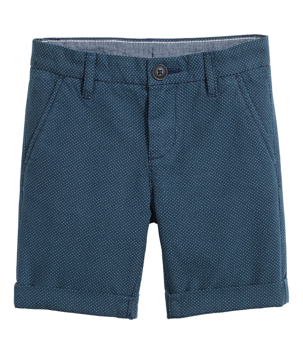 H&M - Chino Shorts - Dark blue/dotted - Kids