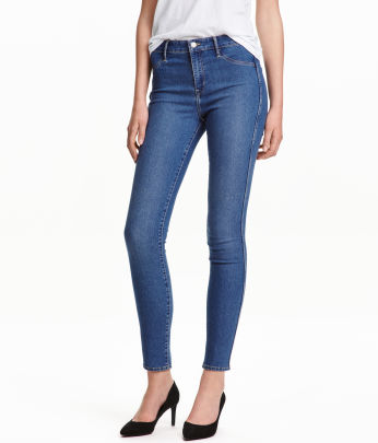 Coloured skinny jeans h&m