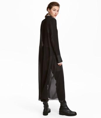 H and m maxi dress black