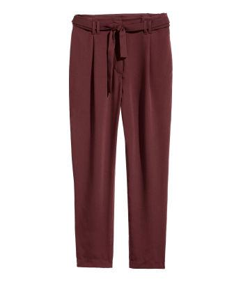 H m red dress pants quick