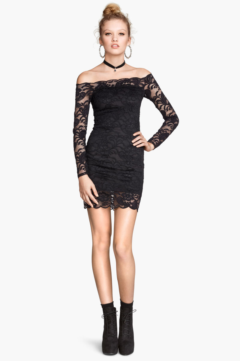 Hm off the shoulder lace dress