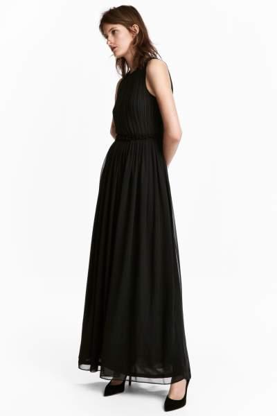 Maxi dress black h&m strapless dress