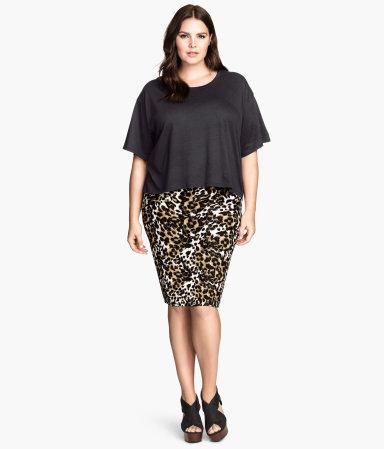 h m pencil skirt leopard print sale h m us. Black Bedroom Furniture Sets. Home Design Ideas