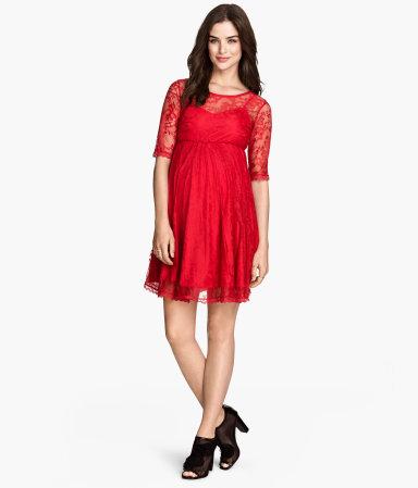 mama lace dress red sale h m us. Black Bedroom Furniture Sets. Home Design Ideas