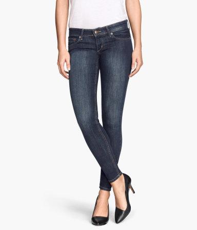 super skinny super low jeans denim blue women h m us. Black Bedroom Furniture Sets. Home Design Ideas