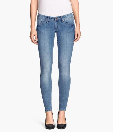 super skinny super low jeans light denim blue women. Black Bedroom Furniture Sets. Home Design Ideas