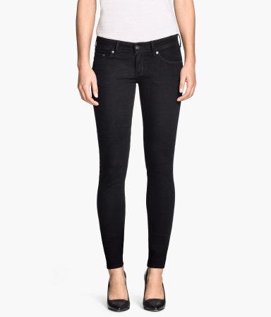 super skinny super low jeans black women h m us. Black Bedroom Furniture Sets. Home Design Ideas