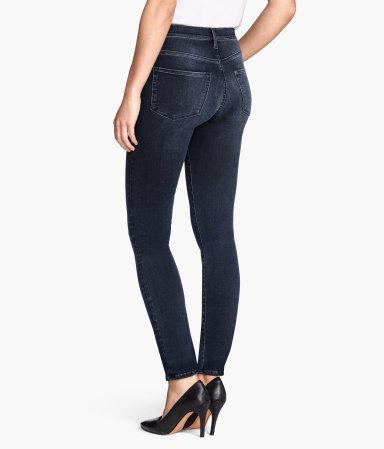 shaping skinny regular jeans dark denim blue women h m us. Black Bedroom Furniture Sets. Home Design Ideas