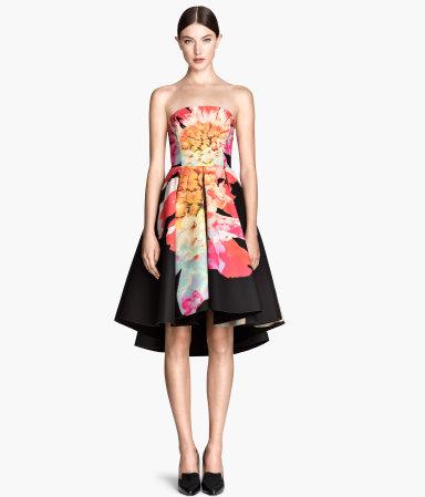 circle skirt bandeau dress black sale h m us. Black Bedroom Furniture Sets. Home Design Ideas