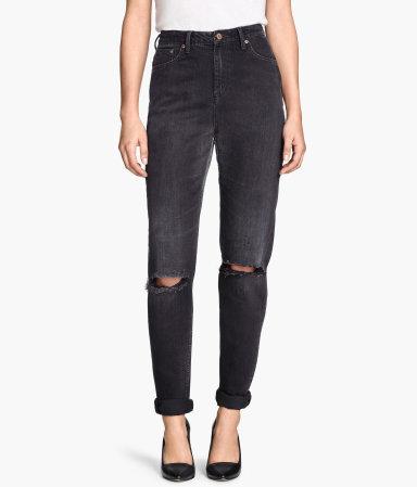 mom jeans black sale h m us. Black Bedroom Furniture Sets. Home Design Ideas