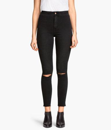 skinny high ankle jeans black sale h m us. Black Bedroom Furniture Sets. Home Design Ideas