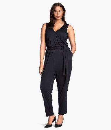 h m sleeveless jumpsuit black women h m us. Black Bedroom Furniture Sets. Home Design Ideas