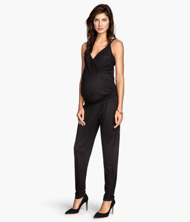 mama jumpsuit black sale h m us. Black Bedroom Furniture Sets. Home Design Ideas