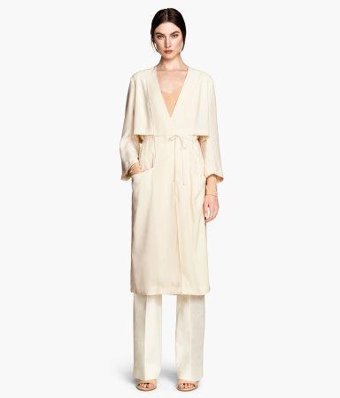 trench dress light beige women h m us. Black Bedroom Furniture Sets. Home Design Ideas