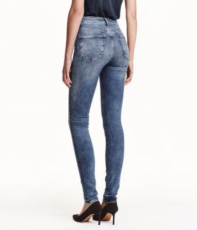 shaping skinny high jeans denim blue women h m us. Black Bedroom Furniture Sets. Home Design Ideas