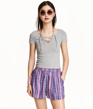 H&M Patterned Shorts $9.99