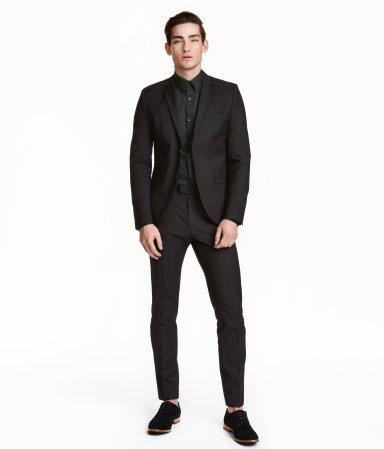 suit pants slim fit black men h m us. Black Bedroom Furniture Sets. Home Design Ideas