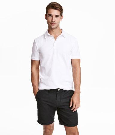 Polo shirt white men h m us for H m polo shirt mens