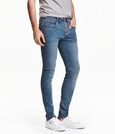 skinny low jeans denim blue men h m us. Black Bedroom Furniture Sets. Home Design Ideas