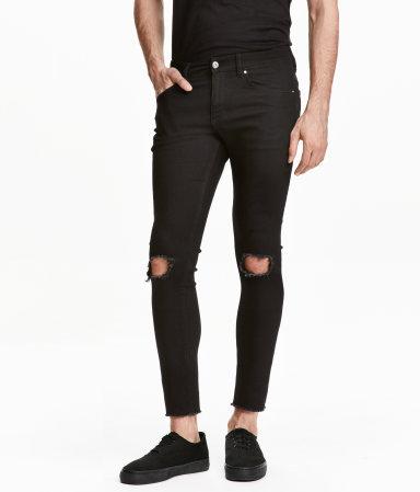 super skinny ankle jeans black sale h m us. Black Bedroom Furniture Sets. Home Design Ideas