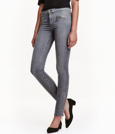 shaping skinny ankle jeans gray denim women h m us. Black Bedroom Furniture Sets. Home Design Ideas