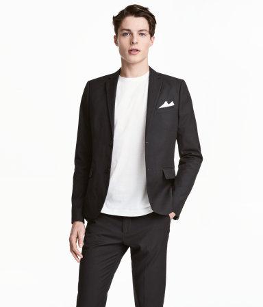 blazer slim fit black men h m us. Black Bedroom Furniture Sets. Home Design Ideas