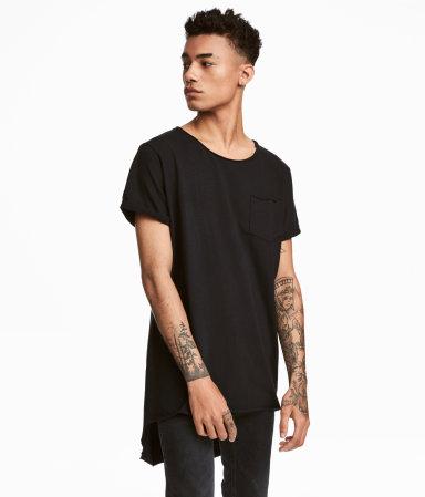 long t shirt black men h m us. Black Bedroom Furniture Sets. Home Design Ideas