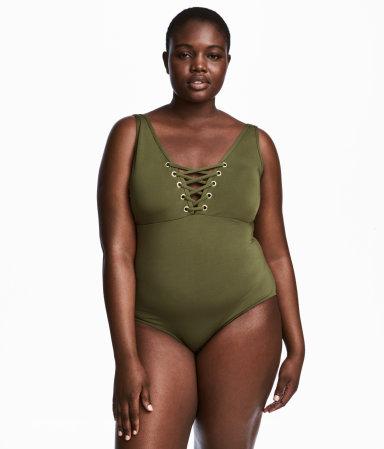 h m swimsuit khaki green sale h m us. Black Bedroom Furniture Sets. Home Design Ideas