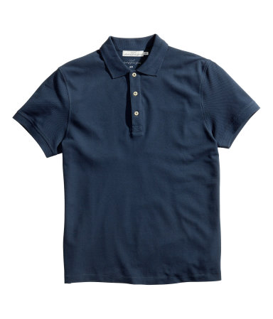 polo shirt dark blue sale h m us
