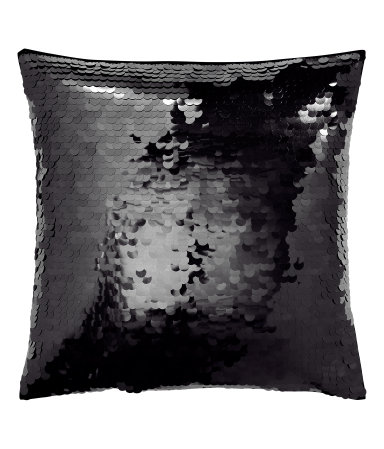 Cushion Cover with Sequins Black Sale H&M US