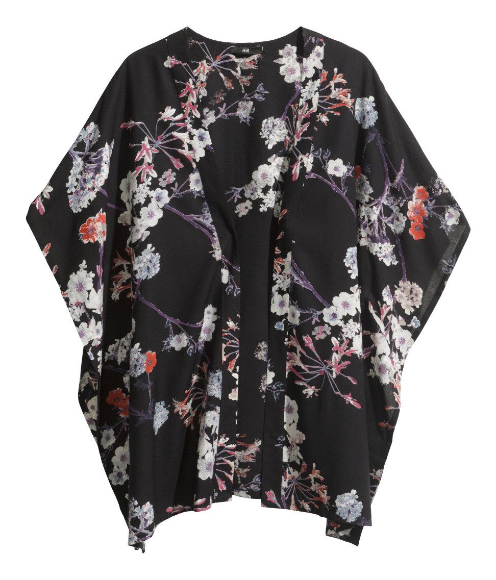 H&M Spring 2014 Conscious Trend Black 3/4 Sleeves Kimono ...