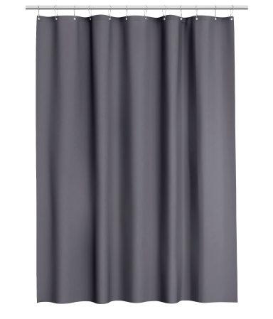 Shower Curtain Dark Gray Home H M US