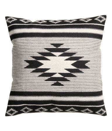 Jacquard-weave Cushion Cover Black H&m home H&M US