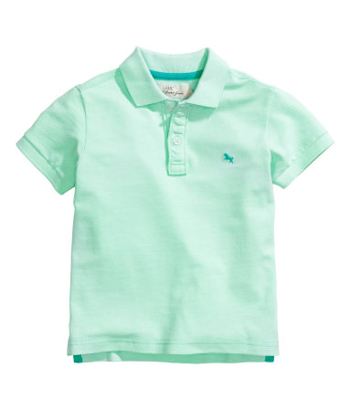 Polo shirt mint green kids h m us for Mint color polo shirt