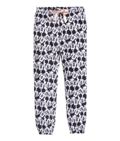 pajama pants white mickey mouse sale h m us. Black Bedroom Furniture Sets. Home Design Ideas