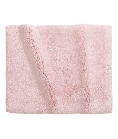 cotton terry bath mat light pink sale h m us. Black Bedroom Furniture Sets. Home Design Ideas