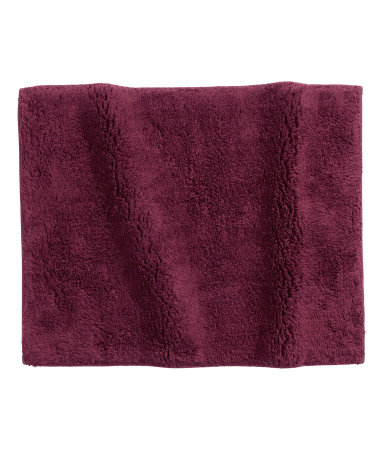 cotton terry bath mat burgundy sale h m us. Black Bedroom Furniture Sets. Home Design Ideas