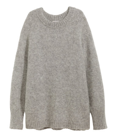 mohair blend sweater gray melange women h m us. Black Bedroom Furniture Sets. Home Design Ideas