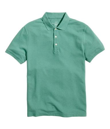 Polo shirt green men h m us for H m polo shirt mens