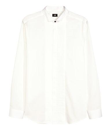 Tuxedo shirt white men h m us for Tuxedo shirt without studs