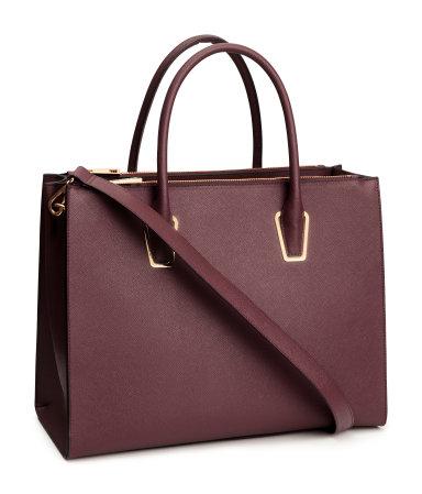 handbag burgundy women h m us. Black Bedroom Furniture Sets. Home Design Ideas