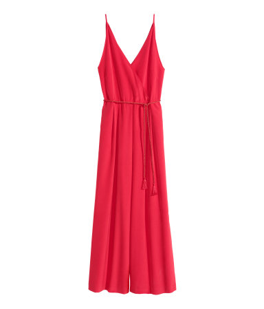 sleeveless jumpsuit red sale h m us. Black Bedroom Furniture Sets. Home Design Ideas