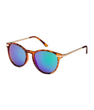 sunglasses brown teal women h m us. Black Bedroom Furniture Sets. Home Design Ideas