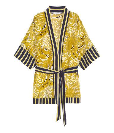Patterned Kimono Jacket | Yellow | WOMEN | H&M US