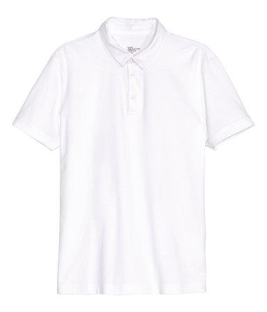 Polo shirt white sale h m us for H m polo shirt mens
