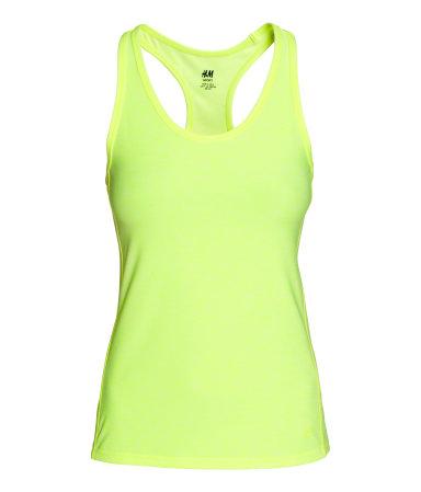 Sports Tank Top Neon yellow melange WOMEN #1: large]