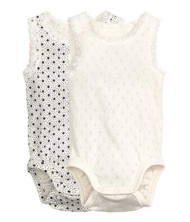 H&M 2-pack Sleeveless Bodysuits $9.99