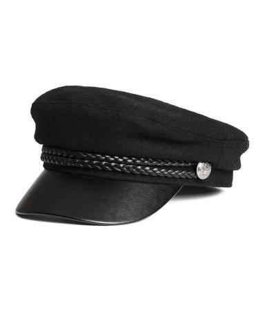 captain 39 s cap black sale h m us. Black Bedroom Furniture Sets. Home Design Ideas