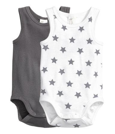 H&M 2-pack Sleeveless Bodysuits $12.99