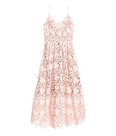 lace dress light pink sale h m us. Black Bedroom Furniture Sets. Home Design Ideas